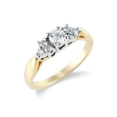 18ct Yellow Gold and Diamond Ring 0.23pt - Coolrocks
