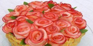 Прекрасные пирожные на скорую руку Этот прекрасный букет роз ничто иное, как вкусные и быстрые пирожные