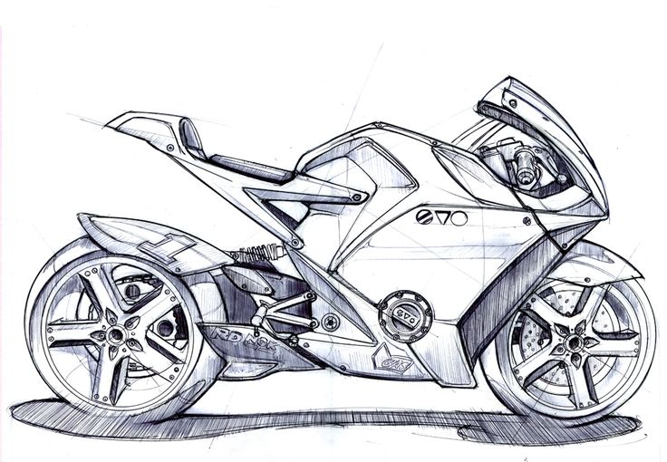This bike has a very clean future like design to it. It seems to look aerodynamic starting at the front and gradually becomes simple towards the end. It has an aggressive stance and the wheels illustrate movement.