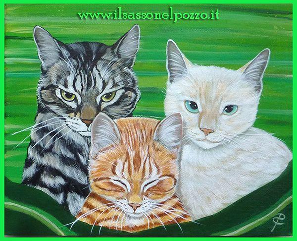 Tre mici - Dipinti su tela di Paola Capponi