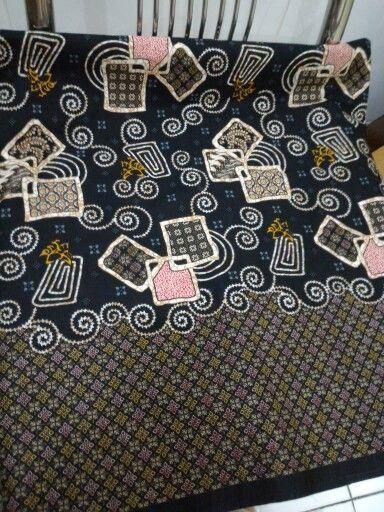 Black square katun batik style