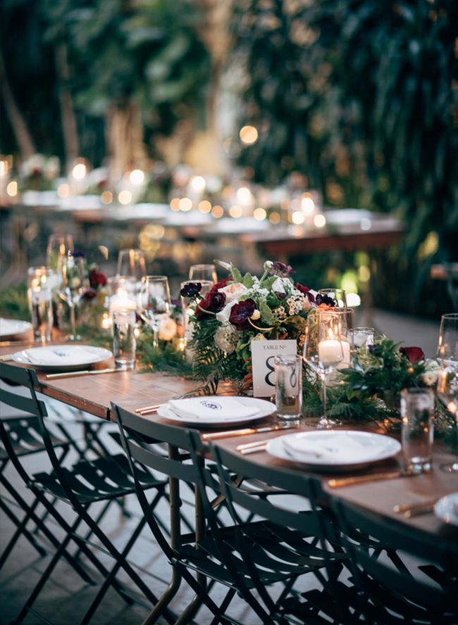 wedding receptions in downtown los angeles%0A Burgundy Los Angeles Wedding at The Millwick