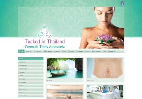 Tucked in Thailand | Website Design | By Corinne Jade Shardlow