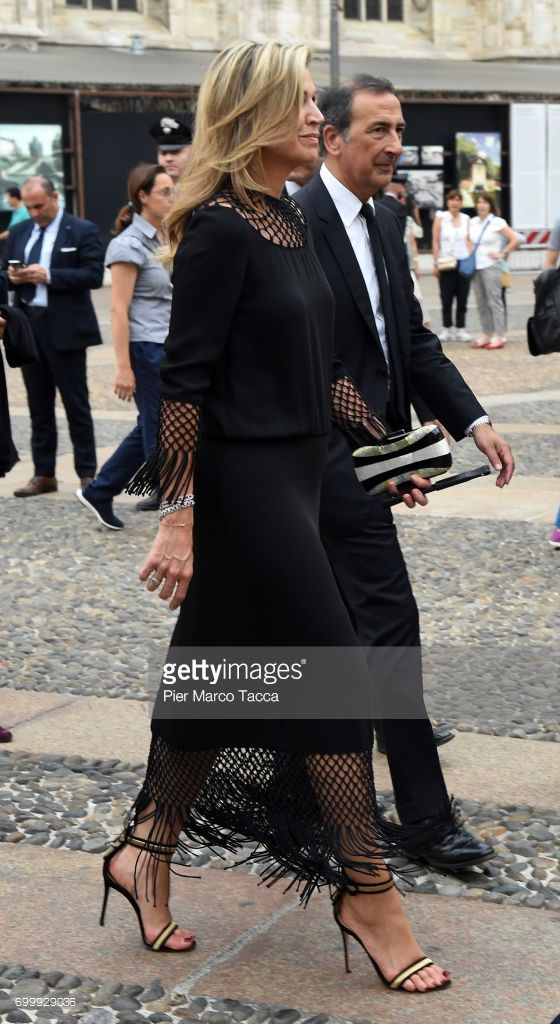 Queen Maxima and Mayor of Milan Giuseppe Sala attend a football clinic for integration organized by Italian Football Federation at Piazzetta Reale on June 22, 2017 in Milan, Italy.