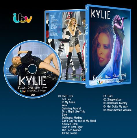 ARTWORK: Kiss Me Once Tour itv - Kylie Minogue DVD by MadonnaCanvas on Etsy https://www.etsy.com/listing/239486956/artwork-kiss-me-once-tour-itv-kylie