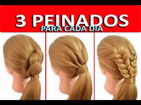 3 Peinados con Coletas con Trenzas Faciles y Rapidos para Niña - Trabajo - Casuales - YouTube