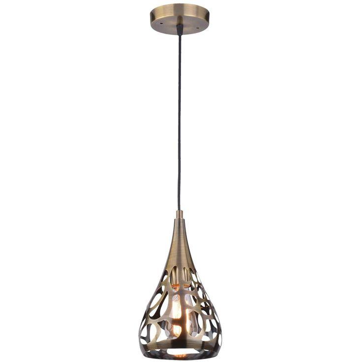 Ażurowa LAMPA wisząca LAMP 576/1 metalowa OPRAWA orientalna ZWIS kropla łezka patyna