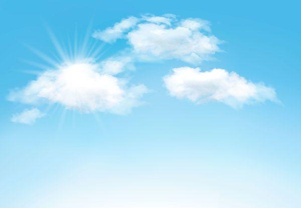 sonne und wolken mit himmelshintergrund vektor 04 eps datei sonnenlicht himmel hintergrund download na sky background clouds glühbirne flamingo