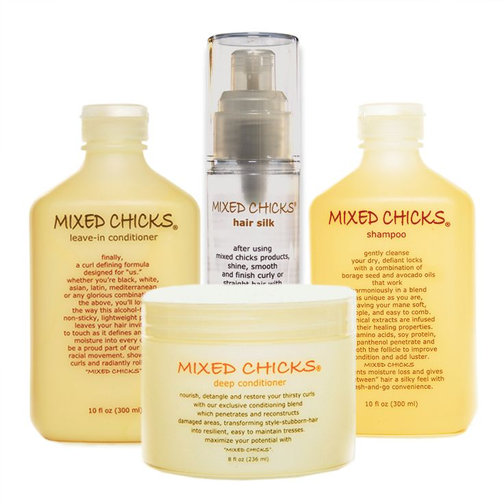 "Finally, a curl-defining system for ""us"". Whether you're black, white, asian, latin, mediterranean, or any glorious combination of the above, you'll love the way these non-sticky, lightweight curly hair products leave your hair inviting to touch as they define and lock moisture into every curl. Be a proud part of our multiracial movement...""MIXED CHICKS"" your curls! And yes, it not only works on wavy, tightly curled or straight hair but it also works on weaves."