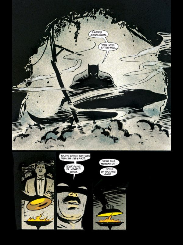 Batman: Year One page by David Mazzucchelli.