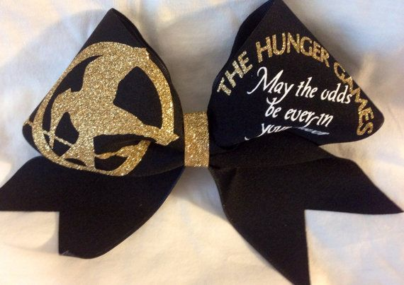 The hunger games  hair bow  cheer bow by Bowstobling on Etsy, $22.00