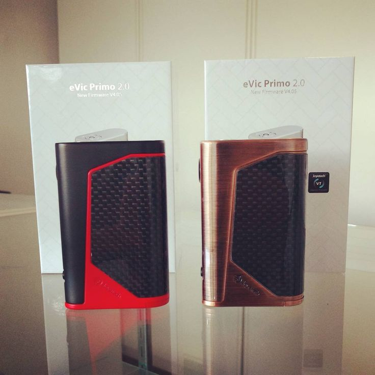 The eVIC Primo 2.0 - New dual 18650 228w mod now in stock in black/red & bronze for only $69.95 @vaporaecigs  #newmod #aussievapers #joytech