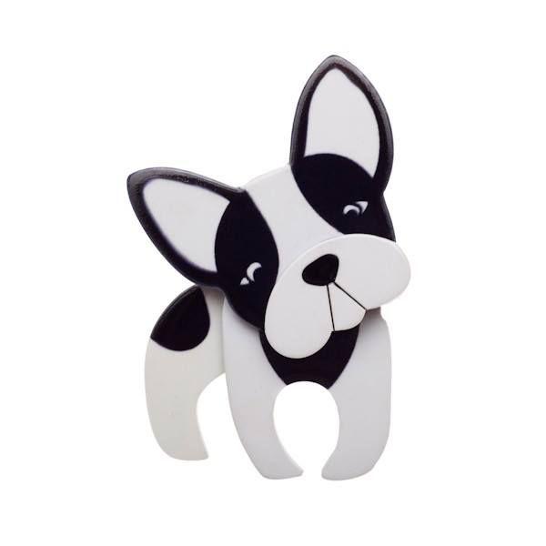 The Erswilder range is known for its quirky design, and this Erstwilder - Fabien the French Dog Brooch is no exception. www,designershowcase.com.au #erstwilder range
