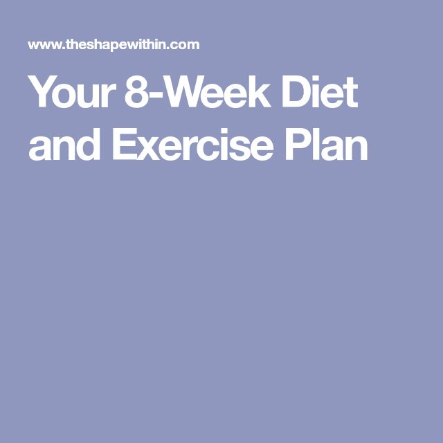Your 8-Week Diet and Exercise Plan
