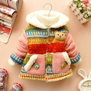 HOT Baby Girl Cute 3D Bear Winter Warm Jacket Gown Clothing Outwear Coat Clothes | eBay