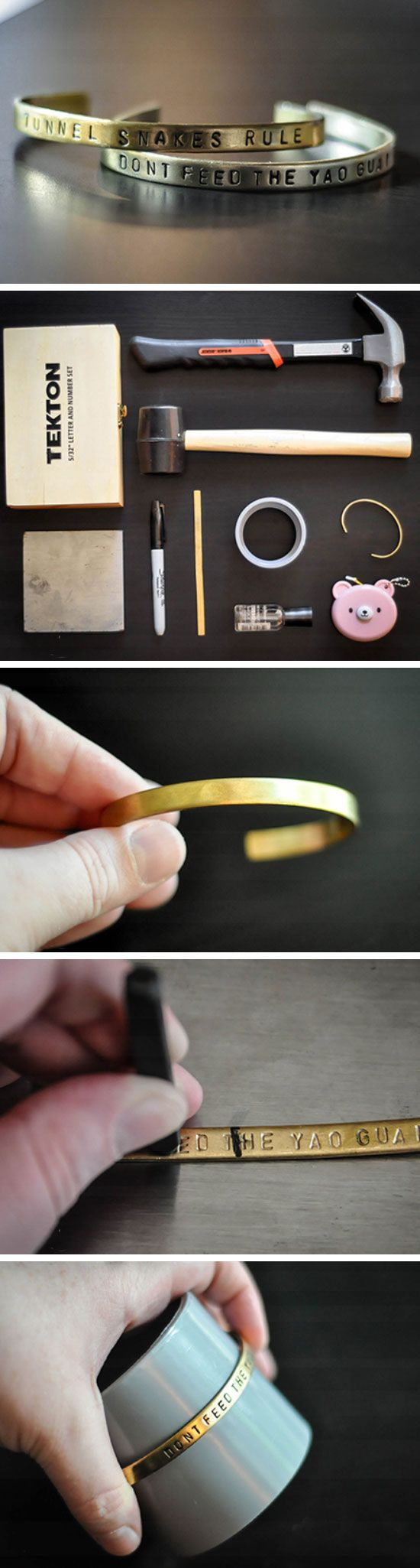 Metal Stamped Bracelets | Click Pic for 29 DIY Christmas Gift Ideas for Men | Last Minute DIY Christmas Gifts for Friends