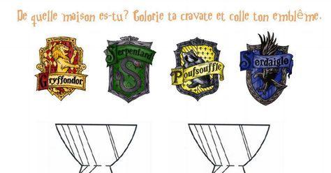 cravates et blasons Poudlard à imprimer. Harry Potter ...