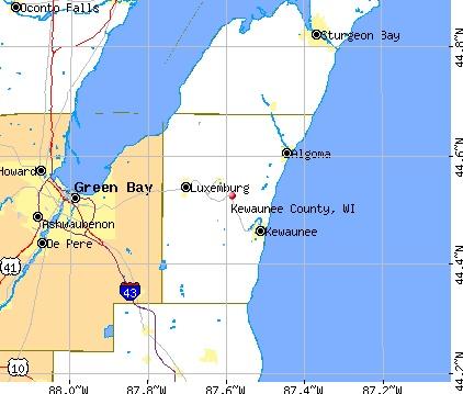 Kewaunee WI Map   osm map general map google map msn map osm map