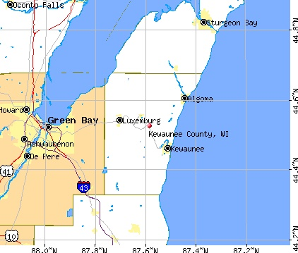 Kewaunee WI Map | osm map general map google map msn map osm map