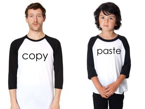 Father's Day T Shirt, Copy Paste T-Shirt, Set of 2 Father Son T Shirts,Copy Paste Raglan,Fathers Day Gift Shirt,Father Son Matching T Shirts