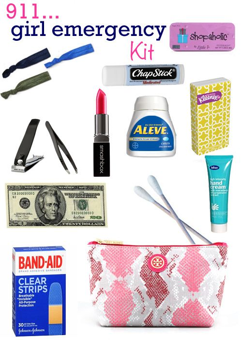 I always feel better knowing I have this crap in my car. With the addition of face wipes, tampons, and mascara. :)