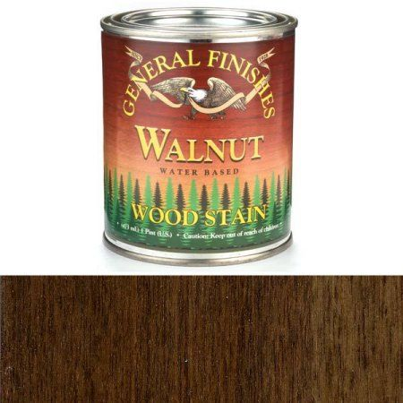 General Finishes Water Based Wood Walnut Stain, Quart