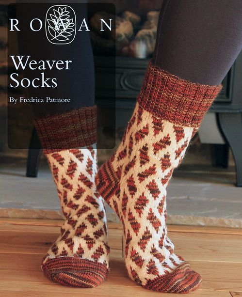 FREE Rowan Pattern: Weaver Socks by Frederica Patmore, in Rowan Fine Art and Rowan Pure Wool 4-Ply