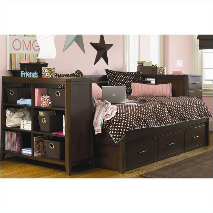 full size daybeds | Kendall Full Size Daybed with Storage in Medium Brown  Cherry by Hooker - 7 Best Thomas' Bedroom Images On Pinterest Full Size Daybed
