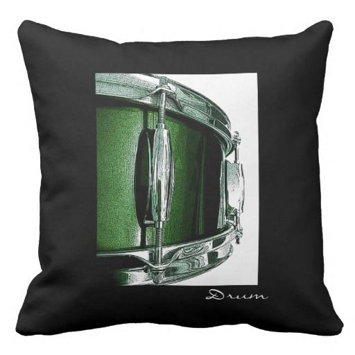Cool Snare Drum Pillow for Drummers Drumming Decor