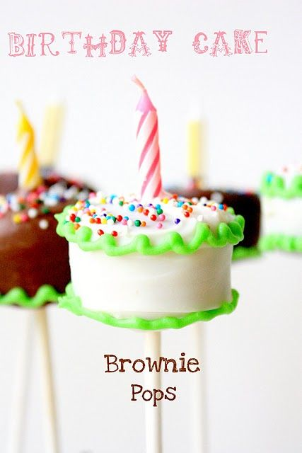 @Alicia Hanson Sturdy, Look how cute! Brownie Pop Birthday Cakes by Munchkin Munchies.