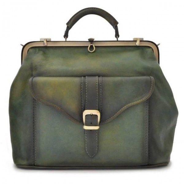 Pratesi Mary Poppins Tas Bruce Green. #green #leatherbag #bag #duffel