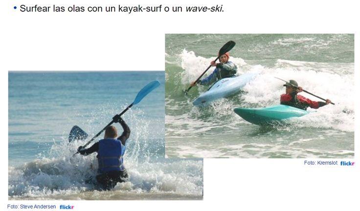 Piragüismo en mar: kayak surf