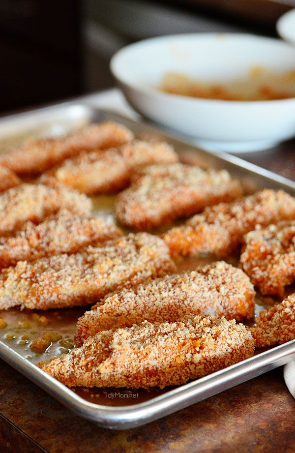 Oven Baked Buffalo Ranch Chicken Strips | Tidy Mom