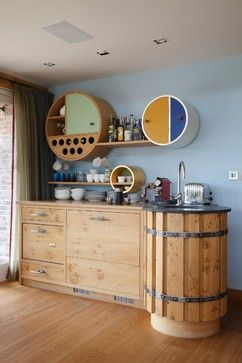 FAMILY KITCHEN IN KENT - contemporary - Home Bar - South East - Johnny Grey Studios