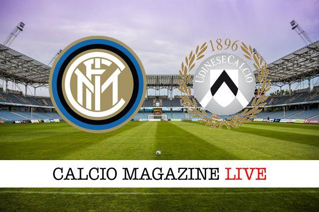Inter-Udinese risultato in diretta tabellino in tempo reale