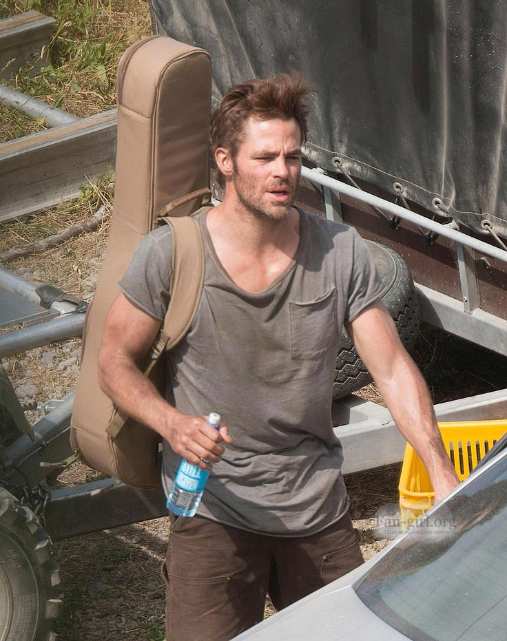 "Chris Pine in the ""Z For Zachariah"" Set ·"