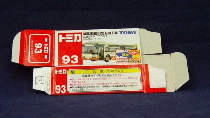TOMICA 092E FUSO AERO STAR BUS | 1/141 | ORIGINAL BOX ONLY | ST2 2002 CHINA