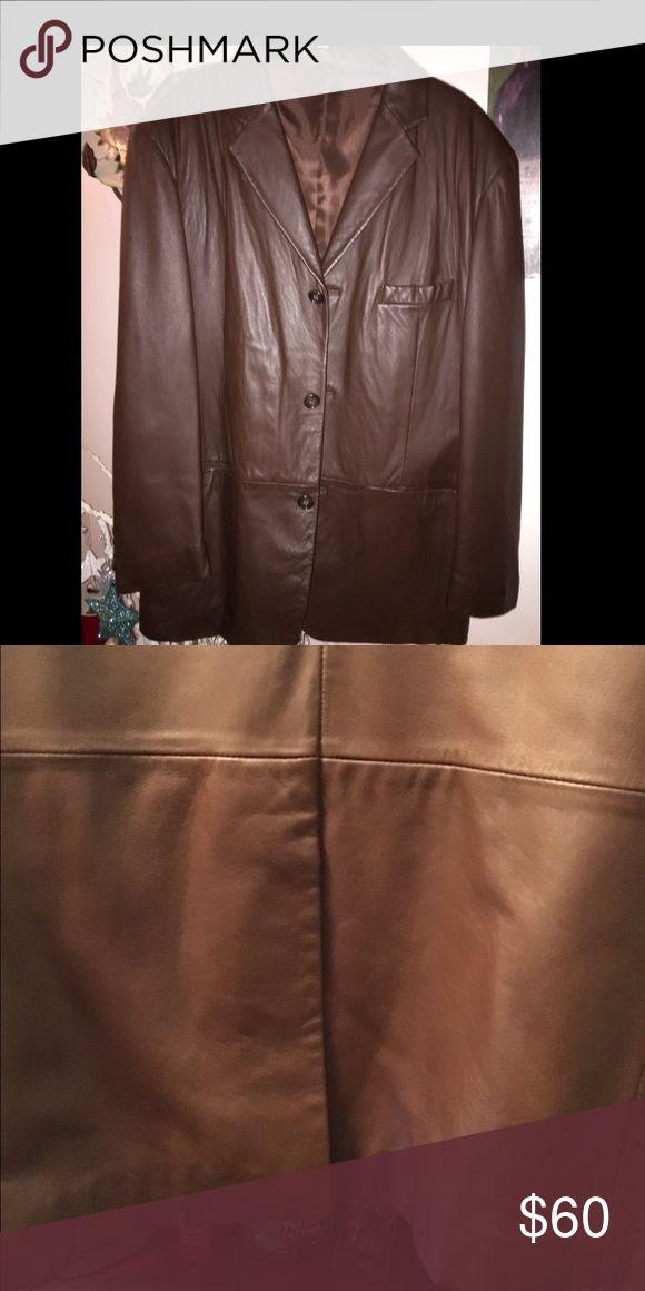 Alfani Men's leather jacket Alfani Soft Leather  gentle used alfani Jackets & Coats