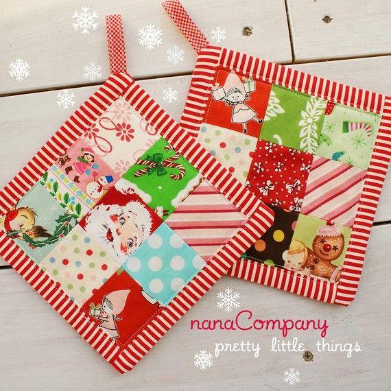 christmas mug rugs Reserved for Mirna by nanacompany on Etsy