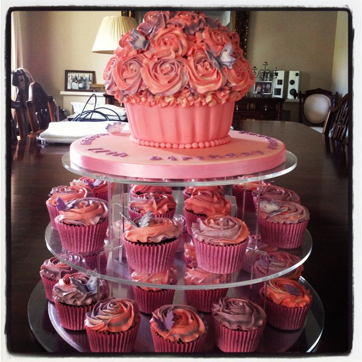 Pink/mauve butterfly cupcakes
