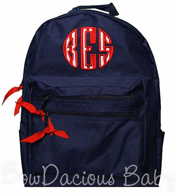 Monogrammed Backpack Personalized Backpack Girls by bowdaciousbaby