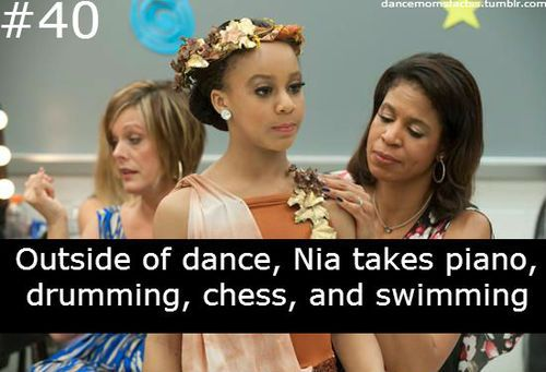 She must be a busy girl!!!!!dance moms fact.......nia......40