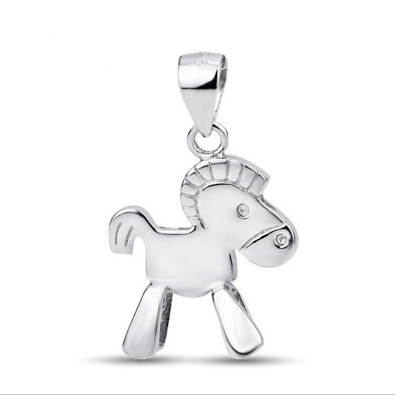 Sterling Silver Pendant Style 17 Cute Horse by ATHiNGZ on Etsy, $10.99