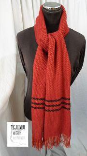 Bufanda para caballero en mezcla de lana y fibra acrìlica. Handwoven man scarf.