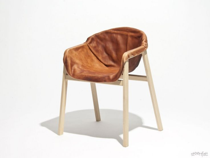 Дизайнерская мебель: винтажный кожаный стул Hardened Leather Chair