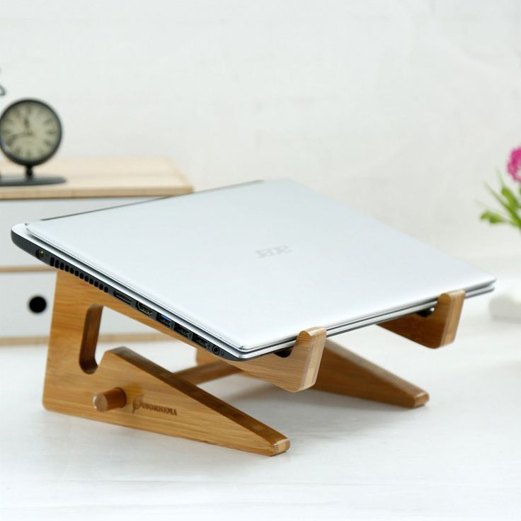 Universal Wooden Bamboo Laptop Notebook Stand Holder Cooler For Macbook Pro 15 17 Inch Sale - Banggood.com
