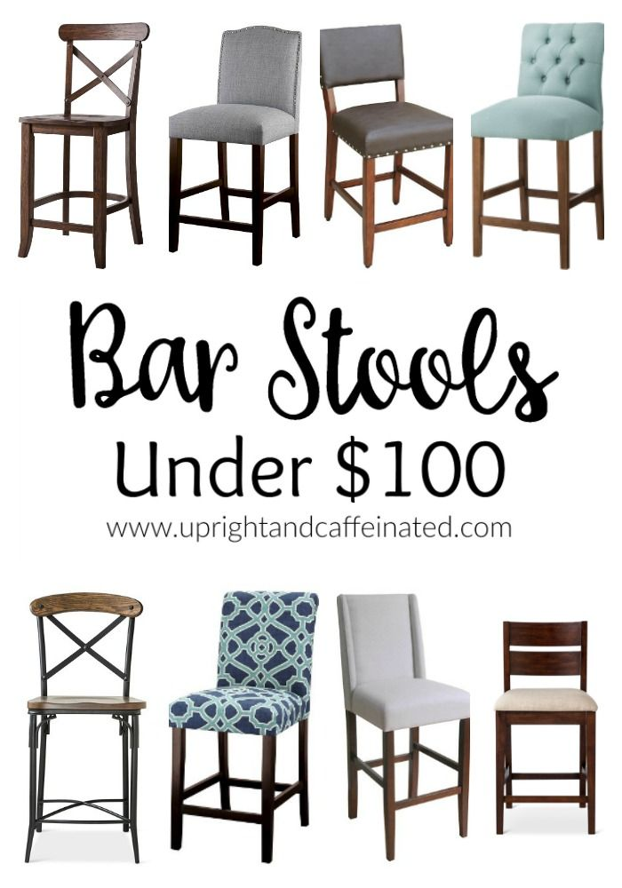 We are searching for bar stools for our new kitchen and I found these eight counter-height stools for under one hundred dollars!