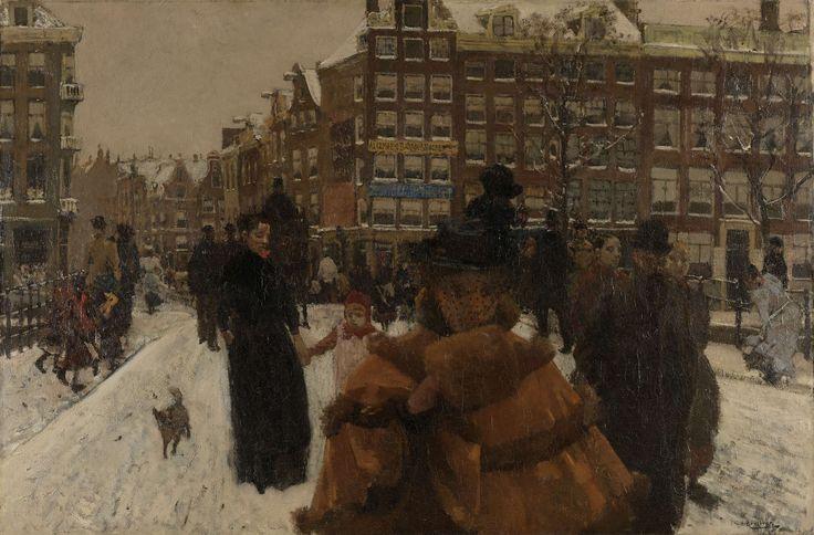 The Singel Bridge at the Paleisstraat in Amsterdam, George Hendrik Breitner, 1896