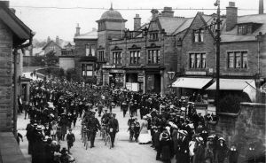 The Army Marching Through Guiseley ww1