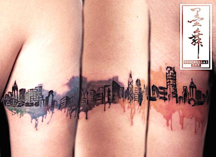 Best 25 skyline tattoo ideas on pinterest city tattoo for Hong kong tattoo